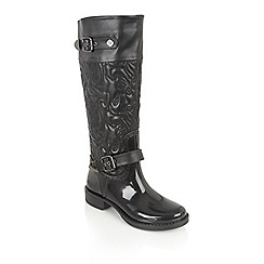 Lotus - Black posh wellies 'bornite' boots