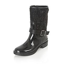 Lotus - Black posh wellies 'feldspar' boots