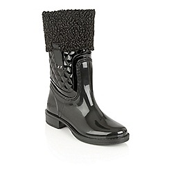 Lotus - Black posh wellies 'colemanite' boots