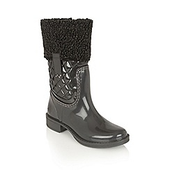 Lotus - Graphite posh wellies 'colemanite' boots