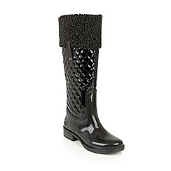Lotus - Black posh wellies 'kyanite' boots