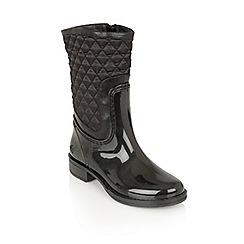 Lotus - Black posh wellies 'cinnabar' boots