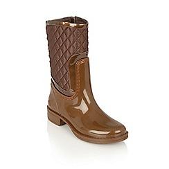Lotus - Bronze posh wellies 'cinnabar' boots