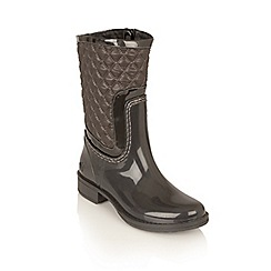 Lotus - Graphite posh wellies 'cinnabar' boots