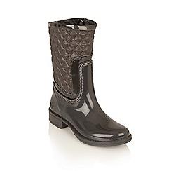 Lotus - Graphite posh wellies 'cinnabar' boots