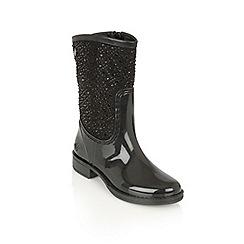 Lotus - Black posh wellies 'cerrucite' boots