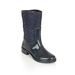 Lotus - Navy posh wellies 'cerrucite' boots