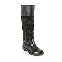 Lotus - Black posh wellies 'galena' boots