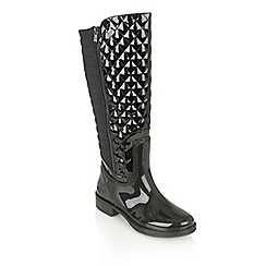 Lotus - Black posh wellies 'akoya' boots