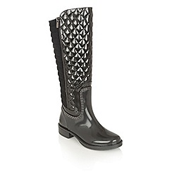Lotus - Graphite posh wellies 'akoya' boots