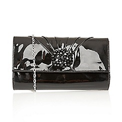 Lotus - Black patent 'Cristaler' handbags