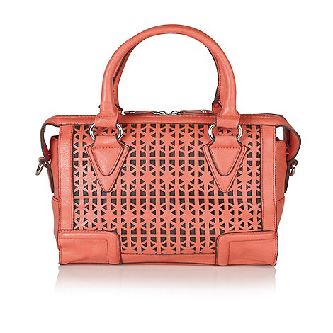 Lotus - Coral +Rumba+ laser detailed handbags
