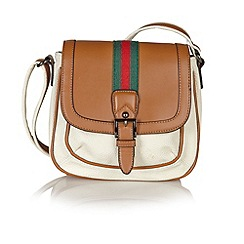 Lotus - White 'Hambo' saddle handbags