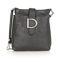 Lotus - Black leather 'Shimmy' handbag