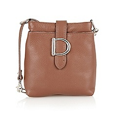 Lotus - Brown leather 'Shimmy' handbag