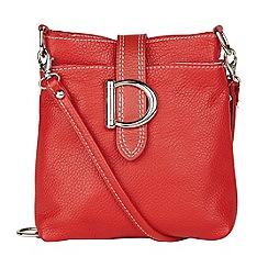 Lotus - Cherry leather 'Shimmy' handbag