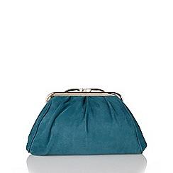 Lotus - Teal suede 'Halle' handbags