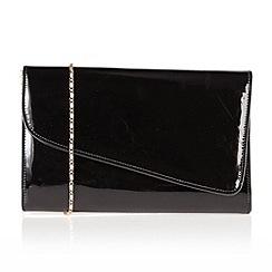 Lotus - Black shiny 'Enola' handbags