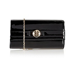 Lotus - Black patent 'Darla' handbags