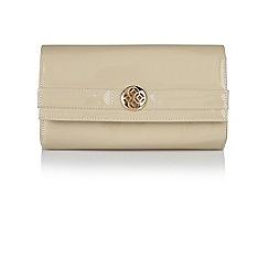 Lotus - Nude patent 'Darla' handbags