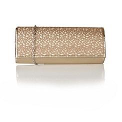 Lotus - Light gold mesh 'Elektra' handbags