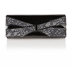 Lotus - Black patent 'Priscilla' handbags