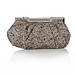 Lotus - Black/Nude satin 'Magena' handbags