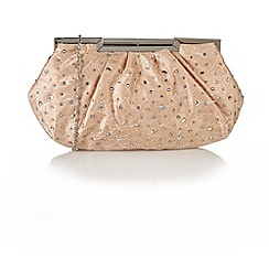 Lotus - Nude satin 'Magena' handbags