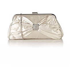 Lotus - Ivory satin 'Rozene' handbags