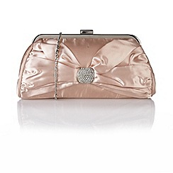 Lotus - Nude satin 'Rozene' handbags