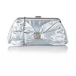 Lotus - Silver satin 'Rozene' handbags