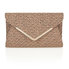 Lotus - Bronze printed satin 'Catori' clutch bags