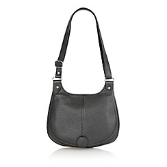 Lotus - Black leather 'Bernie' saddle bag