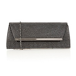 Lotus - Black/diamante 'Becky' clutch bag