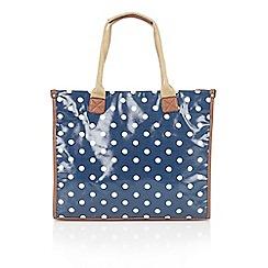 Lotus - Navy spot 'CG67931' tote handbags