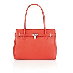 Lotus - Red leather 'Valutina' tote handbags