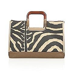 Lotus - Zebra 'Fallabella' tote handbags