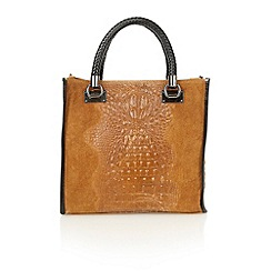 Lotus - Tan leather 'Zola' tote handbags