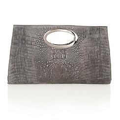 Lotus - Grey leather 'Koshi' clutch bags