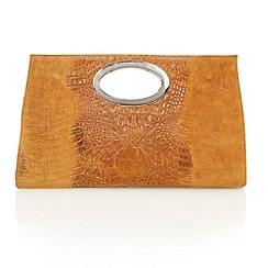 Lotus - Tan leather 'Koshi' clutch bags