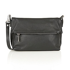Lotus - Black leather 'Arys' satchel bags