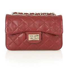 Lotus - Burgundy leather 'Silverbell' satchel bags