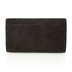 Lotus - Black suede 'Bernie' clutch bags