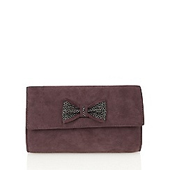 Lotus - Purple suede 'Bernie' clutch bags
