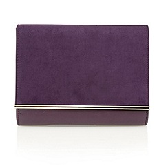 Lotus - Purple microfibre 'Miss' clutch bags