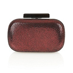 Lotus - Dark red 'Laelia' clutch bags