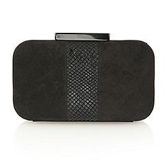 Lotus - Black microfibre black 'Jasminium' clutch bags