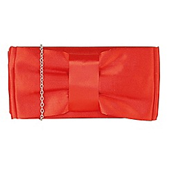 Lotus - Red 'Maia' matching clutch bag