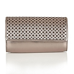 Lotus - Pewter leather 'Cellini' matching bag