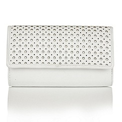 Lotus - White leather 'Cellini' matching bag